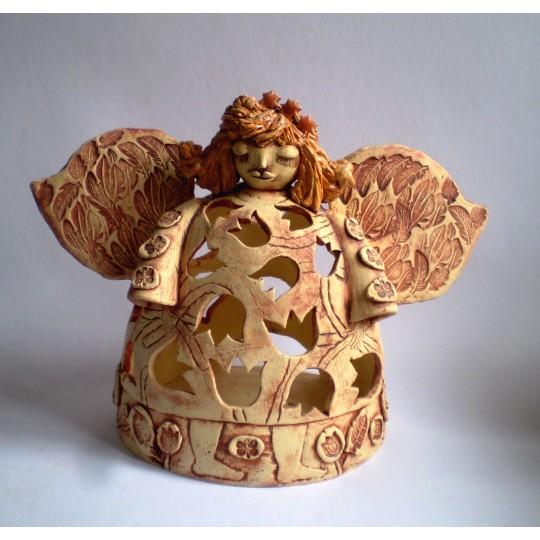 Lampička andělka se zvonečky